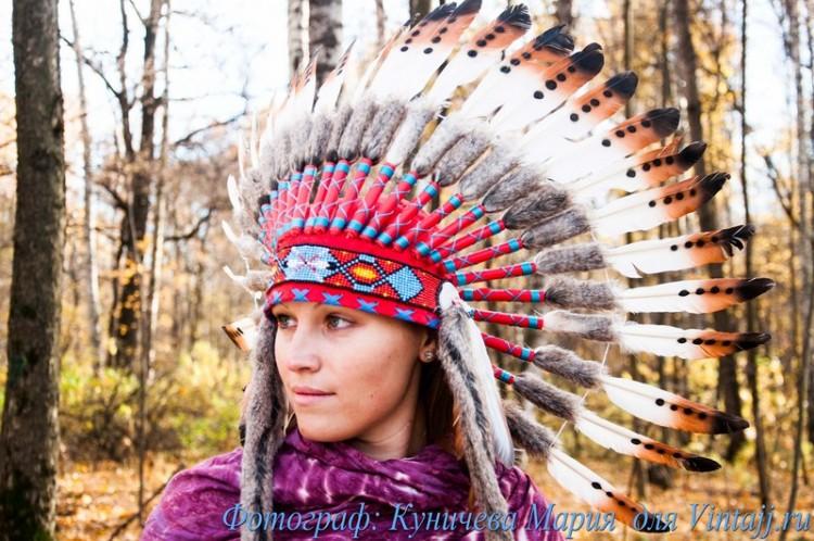 Как сделать головной убор индейца из бумаги своими руками