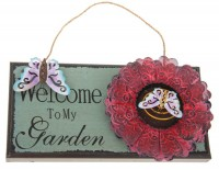 "Декоративное панно ""Welcome to my garden"" - Декоративное панно ""Welcome to my garden"""