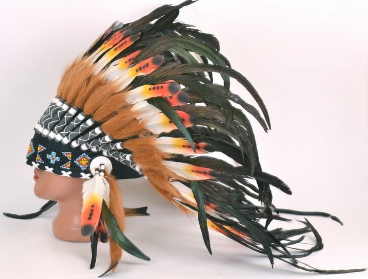 Индейский головной убор из перьев своими руками 86