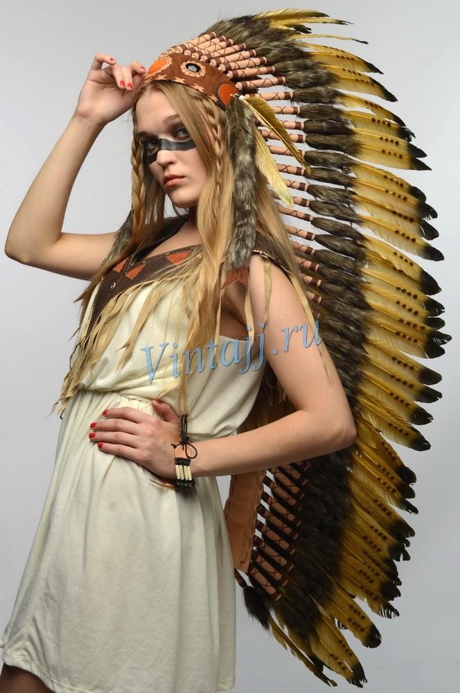 Шапка индейца своими руками из перьев